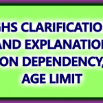 CGHS Criteria for Dependency
