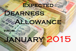 expected DA from January 2015