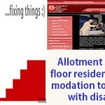 Allotment of ground floor residential accommodation to applicants with disabilities