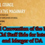 National Convention of the National Council JCM Staff Side for lnterim Relief and Merger of DA