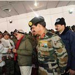 PM celebrates Diwali with officers and jawans of the Indian Armed Forces at Siachen