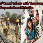 Regularization of Casual Labour with Temporary Status-Proposals from Ministries