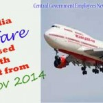 Air India LTC fare revised with effect from 3rd Nov 2014