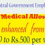 Fixed Medical Allowance enhanced from Rs.300 to Rs.500 per month