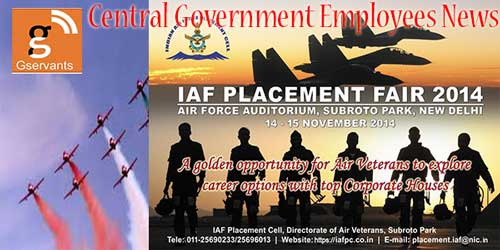 Indian Air Force to Organise Placement Fair 2014