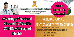 Meeting of National Council JCM with CGHS, Ministry of Health