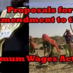 Proposals for amendment to the Minimum Wages Act, 1948