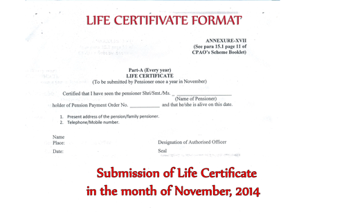The modified format of Life Certificate