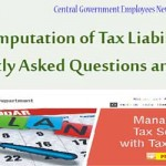 Computation of Tax Liability - Frequently Asked Questions and Answers