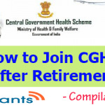 How to Join CGHS after Retirement