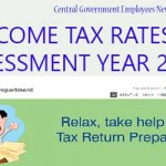 Income Tax Rates For Assessment Year 2015-16