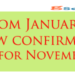 Expected DA is now confirmed by AICPIN for November 2014