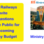Indian Railways Invite Suggestions from the Public for Forthcoming Railway Budget