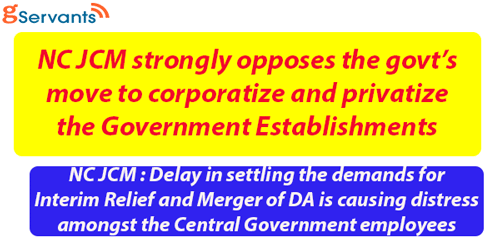 NC JCM strongly opposes the Corporatization and Privatization of  Government Establishments