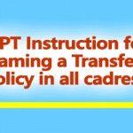 Framing a Transfer Policy in all cadres - DOPT Instructions