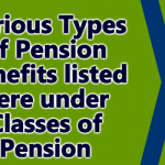 Various Types of Pension benefits listed here under Classes of Pension