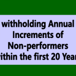 withholding Annual Increments of Non-performers