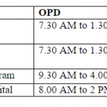 Timings of CGHS Hospitals in Delhi