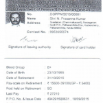 Pensioners Identity Card
