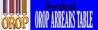 OROP ARREARS TABLE