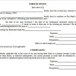 Download 7th CPC Option form and Conditions to Exercising Option