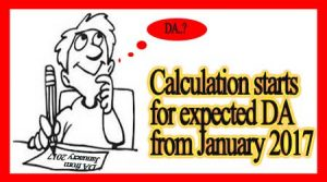 Calculation for expected DA from January 2017