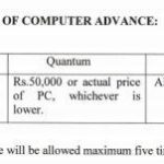 Computer Advance Increased to Rs.50000 – Finmin Order