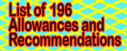 List of 196 Allowances and Recommendations of 7th CPC