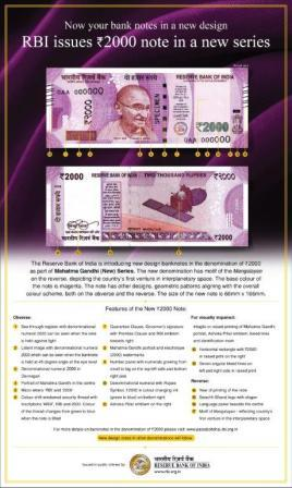 Rs.2000 new banknotes