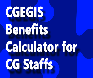 CGEGIS Benefits Calculator for CG Staffs