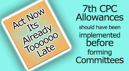 7th cpc Allowances Effect date