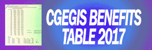 CGEGIS Benefits Table 2017