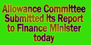 Allowance Committee Submitted its Report to Finance Minister today