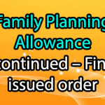 Family Planning Allowance Discontinued - Finmin issued order