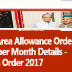 Hard Area Allowance Order and Rates per Month Details - Finmin Order 2017