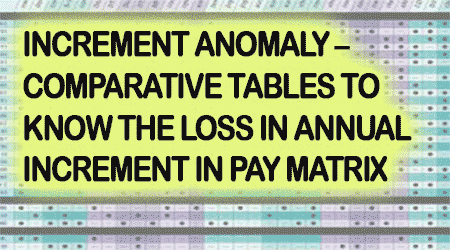 Annual Increment Anomaly in Pay Matrix