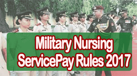 Military Nursing Service Pay Rules 2017
