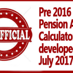 Pre 2016 Pension Arrears Calculator developed in July 2017