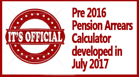 Pre 2016 Pension Arrears Calculator