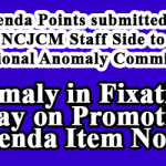Anomaly in Fixation of Pay on Promotion - Agenda Item No.4 by NCJCM Staff Side