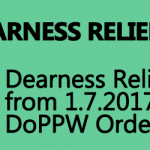 Dearness Relief from 1.7.2017 – DoPPW Order