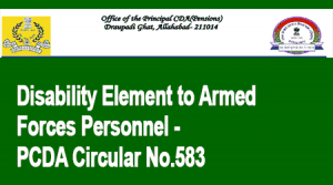 Disability Element to Armed Forces Personnel