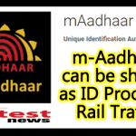 M aadhaar as ID Proof for Train-Travel