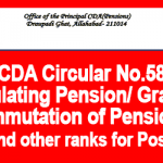 PCDA Circular No.584 – Regulating Post 2016 Pension,Gratuity, Commutation of Pension to JCO and other ranks