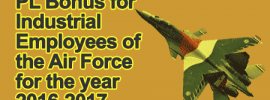 PL Bonus for Industrial Employees of the Air Force for the year 2016-2017