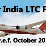 Air India LTC Fare with effect from October 2017