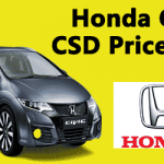 Honda Car CSD Price
