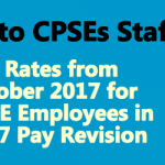 IDA Rates from October 2017 for CPSE Employees in 2007 Pay Revision