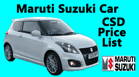Maruti Suzuki Car Csd Rates Post Gst Price From September 2017
