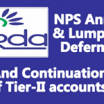 NPS Annuity and Lump Sum Deferment